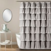 Emily 72 Inch X Shower Curtain In Grey