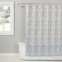 Terrazzo PEVA Shower Curtain in Blue