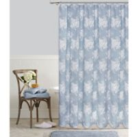 Cabbage Rose 54-Inch x 78-Inch Shower Curtain in Blue