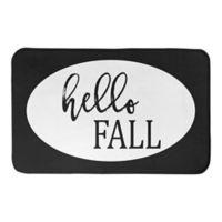 """Designs Direct """"Hello Fall"""" 34-Inch x 21-Inch Bath Rug in Black"""