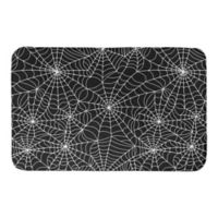 "Designs Direct Spider Web 34"" x 21"" Bath Mat in Black"