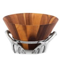 Arthur Court Designs Antler Salad Bowl with Stand