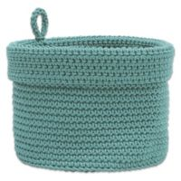Heritage Lace® Mode Crochet 10-Inch Round Basket in Sea Spray