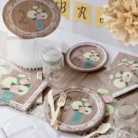 Creative Converting 245-Piece Rustic Wedding Bridal Shower Party Kit