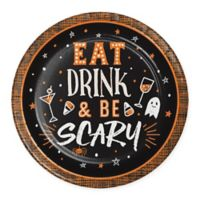 "Creative Converting™ 24-Pack ""Eat Drink and Be Scary"" Dessert Plates"