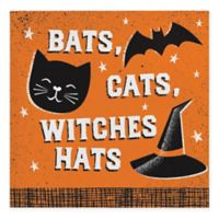 "Creative Converting 48-Pack ""Bats, Cats, Witches Hats"" Beverage Napkins"