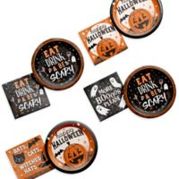 Creative Converting 80-Piece Happy Hour Halloween Party Supplies Kit
