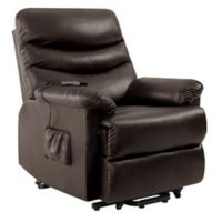 ProLounger® Power Lift Renu Leather Recliner Chair in Brown
