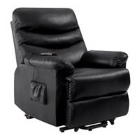 ProLounger® Power Lift Renu Leather Recliner Chair in Black