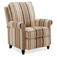ProLounger® Push Back Recliner in Black and Brown Stripe