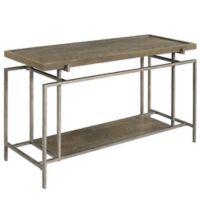 Geometric Frame Sofa Table in Dark Brown