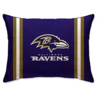 NFL Baltimore Ravens Plush Standard Bed Pillow