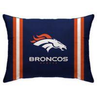 NFL Denver Broncos Plush Standard Bed Pillow