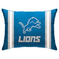 NFL Detroit Lions Plush Standard Bed Pillow
