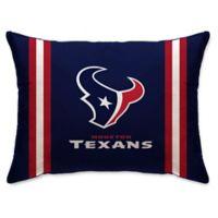 NFL Houston Texans Plush Standard Bed Pillow