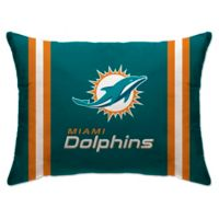 NFL Miami Dolphins Plush Standard Bed Pillow