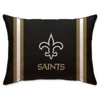 NFL New Orleans Saints Plush Standard Bed Pillow