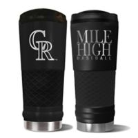 MLB Colorado Rockies Stealth 24 oz. Powder Coated Stealth Draft Tumbler