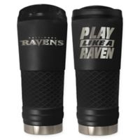 Baltimore Ravens 24 oz. Powder Coated Stealth Draft Tumbler