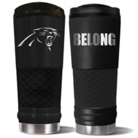 Carolina Panthers 24 oz. Powder Coated Stealth Draft Tumbler