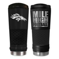 Denver Broncos 24 oz. Powder Coated Stealth Draft Tumbler