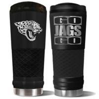 Jacksonville Jaguars 24 oz. Powder Coated Stealth Draft Tumbler
