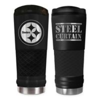 Pittsburgh Steelers 24 oz. Powder Coated Stealth Draft Tumbler