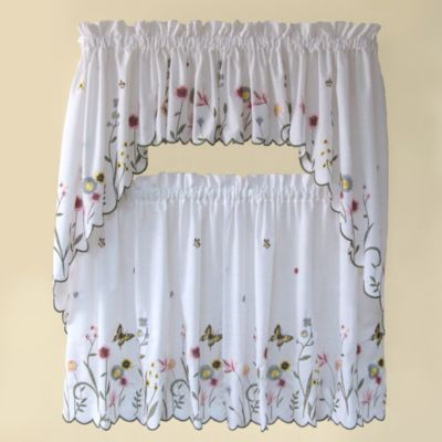 garden delight 36inch kitchen window tier pair - Tier Curtains
