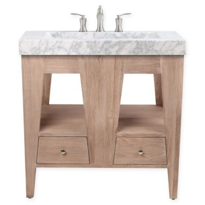 Avanity™ Jameston 33 Inch Single Bathroom Vanity With Marble Top In Rustic  Teak