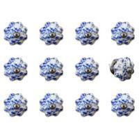 Taj Hotel 12-Pack Ceramic Vintage Knobs in Blue/White