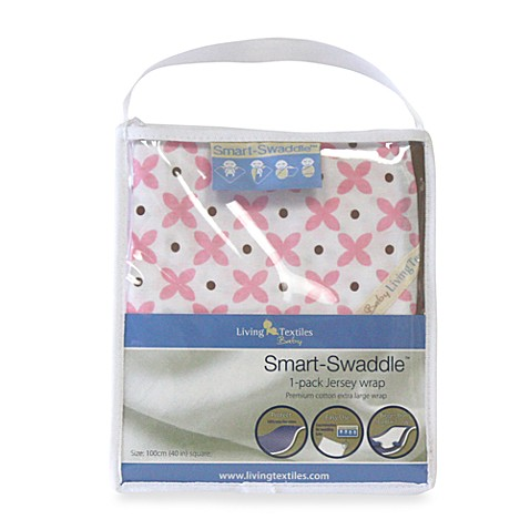 Living Textiles Baby Smart-Swaddle™ Jersey Wrap in Pink Geometric