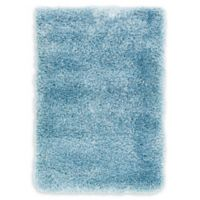 Luxe Solo 2'2 x 3' Shag Accent Rug in Light Blue