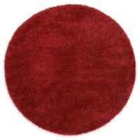 Luxe Solo 6' Round Shag Area Rug in Red