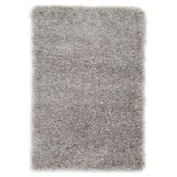 Luxe Solo 2'2 x 3' Shag Accent Rug in Grey