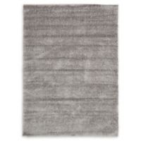 Luxe Solo 7' x 10' Shag Area Rug in Grey