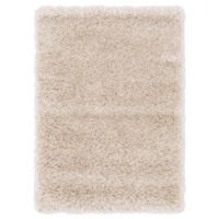 Luxe Solo 2'2 x 3' Shag Accent Rug in Ivory