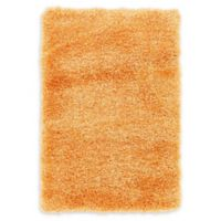 Luxe Solo 2'2 x 3' Shag Accent Rug in Orange