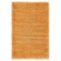 Luxe Solo 3'3 x 5'3 Shag Area Rug in Orange
