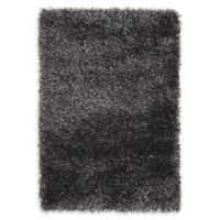Luxe Solo 2'2 x 3' Shag Accent Rug in Black