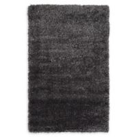 Luxe Solo 3'3 x 5'3 Shag Area Rug in Black