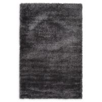Luxe Solo 5' x 8' Shag Area Rug in Black