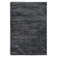 Luxe Solo 6' x 9' Shag Area Rug in Black
