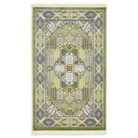 Liverpool Nain 3' x 5' Area Rug in Green