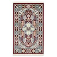 Liverpool Nain 3' x 5' Area Rug in Burgundy