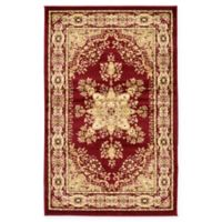 Louis Versailles 3'3 x 5'3 Area Rug in Red