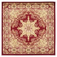 Louis Versailles 4' x 4' Area Rug in Red