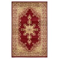 Louis Versailles 6' Round Area Rug in Red