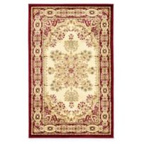 Louis Versailles 3'3 x 5'3 Area Rug in Cream/Red