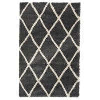 Unique Loom Luxe Trellis 5' x 8' Shag Area Rug in Black