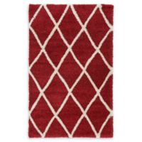 Unique Loom Luxe Trellis Shag 5' x 8' Area Rug in Burgundy